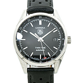 Tag Heuer Carrera Twin time WV2115-0 Mens Automatic Watch 39MM