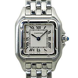Cartier Panthere 1320 Stainless Steel Whtie Dial Ladies Watch 22MM