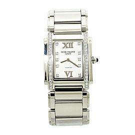 Patek Philippe Twenty 4 4910/010 Tiffany Lady Quartz Diamond Bezel Watch 25MM