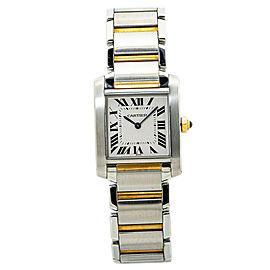 Cartier Tank Francaise 2301/W2TA0003 18K Two Tone Midsize Quartz Watch