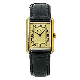 Cartier Tank Vermeil 590005 Unisex Quartz Watch 925 Gold Plated Watch 23MM