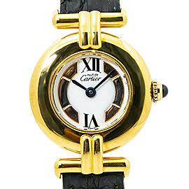 Cartier MustDe Cartier 590002 Trinity Dial Vermeil Ladies Quartz Watch 24MM