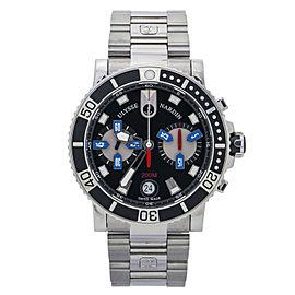 Ulysse Nardin Maxi Marine 8003-102 Chronograph Black Dial Men's Watch 42mm
