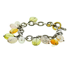 David Yurman Two Tone Multi-Gemstone Bracelet