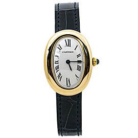 Cartier Baignoire 3888 18K Yellow Gold Ladies Quartz Watch 23MM
