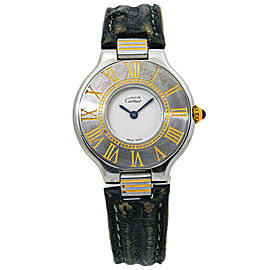 Cartier Must De 21 Deployment Clasp Ladies Quartz Watch 28mm