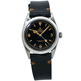 Rolex Explorer 6610 Oyster Perpetual Vintage Tropical Brown Dial Mens Watch 36MM