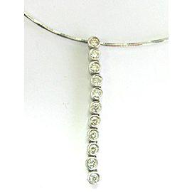 Bezel Set Diamond Earrings & Necklace 18Kt White Gold 2.00Ct G-VS2