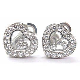 Chopard Happy Diamond Hearts White Gold Earrings 18KT 1.69Ct