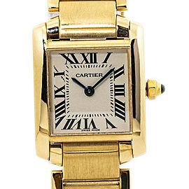 Cartier Tank Francaise 2385 W50002N2 18K Yellow Gold Ladies Quartz Watch 20mm