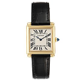 Cartier Tank Obus Prevee Collection 18k Yellow Gold Ladies Watch 1630