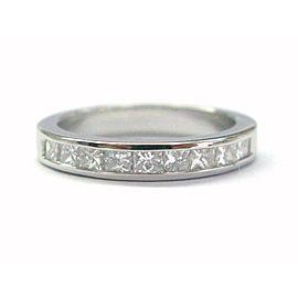 Platinum Princess Cut Diamond Anniversary Band Ring .75Ct