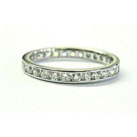 Round Diamond Channel Set Eternity Band Platinum 950 29-Stones 1.00ct Size 6.5