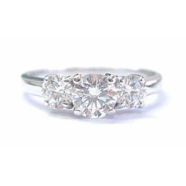 Fine Round Cut Diamond Three Stone White Gold Engagement Ring 1.16Ct