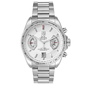 Tag Heuer Grand Carrera White Dial Mens Watch CAV511B Box Papers