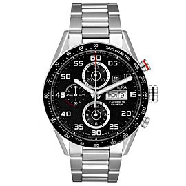 Tag Heuer Carrera Black Dial Chronograph Steel Mens Watch CV2A1R