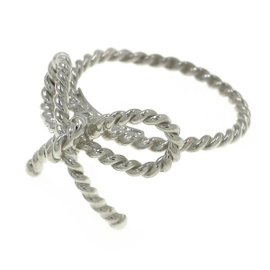 Tiffany & Co. Sterling Silver Twisted Ribbon Ring Size 3.75