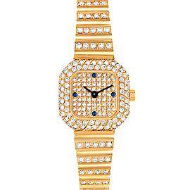 Patek Philippe 18K Yellow Gold Diamond Sapphire Coctail Ladies Watch 4628