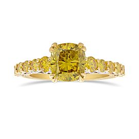 Leibish 18K Yellow and White Gold with 2.88ctw Diamond Ring Size 6
