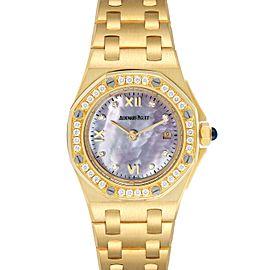 Audemars Piguet Royal Oak Offshore Yellow Gold Diamond Watch 67151BA