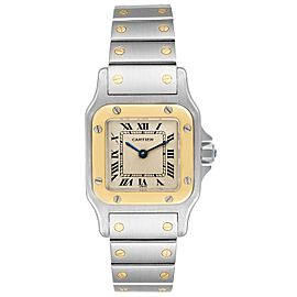 Cartier Santos Galbee Steel Yellow Gold Ladies Watch W20012C4