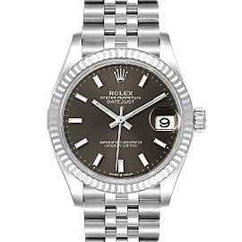 Rolex Datejust Midsize 31 Steel White Gold Slate Dial Watch 278274