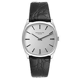 Patek Philippe 18k White Gold Silver Dial Vintage Mens Watch 3544