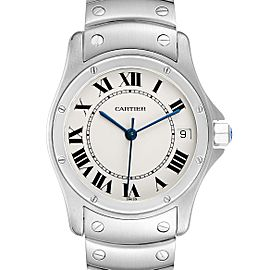 Cartier Santos Ronde 33mm Automatic Steel Mens Watch 1920