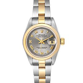 Rolex Datejust Steel Yellow Gold Slate Dial Ladies Watch 79163