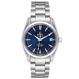 Omega Seamaster Aqua Terra 36 Blue Dial Steel Watch 2504.80.00 Card