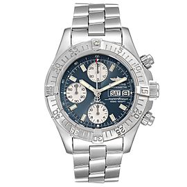 Breitling Aeromarine Superocean Blue Dial Steel Mens Watch A13340