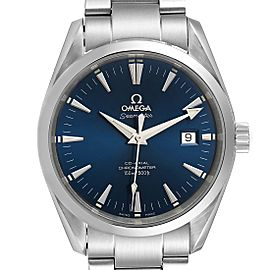 Omega Seamaster Aqua Terra Blue Dial Steel Mens Watch 2503.80.00 Card