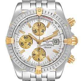 Breitling Chronomat Steel 18K Yellow Gold Mens Watch B13356