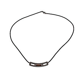 Damiani 18K Rose Gold and Titanium with Diamond Necklace