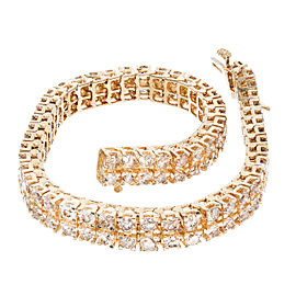 14K Yellow and White Gold 8.00ct. Diamond Bracelet