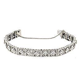 14K White Gold and Platinum 1.60ct. Diamond Bracelet