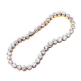 Platinum and Rose Gold with 15.00ct Diamond Bracelet