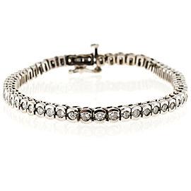 14K White Gold & 3.00ct. Diamond Semi Bezel Bracelet