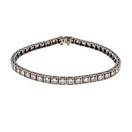 Vintage Iridium Platinum Hinged Link Diamond Bracelet 1940