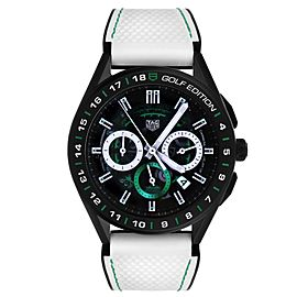 Tag Heuer Connected Golf Edition Titanium Mens Watch SBG8A82 Box Papers