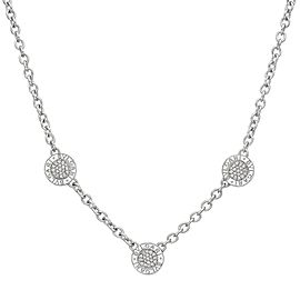 Bulgari Reversible 18K White Gold with 0.60ctw Diamond and Onyx 3 Circle Necklace