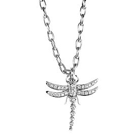 Tiffany & Co. PT950 Platinum with Diamond Dragonfly Necklace