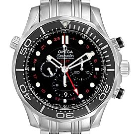 Omega Seamaster Diver 300M Co-Axial GMT Watch 212.30.44.52.01.001 Unworn