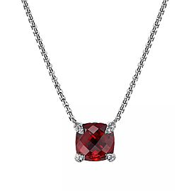 David Yurman Chatelaine Pendant Necklace with Rhodalite Garnet and Diamonds