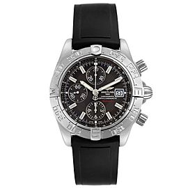 Breitling Galactic II Chronograph Grey Dial Steel Mens Watch A13364 Unworn