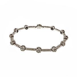 Tacori Platinum & 0.90ct. Diamond Hinged Link Bracelet