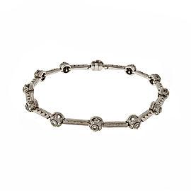 Tacori Platinum & 0.90ct. Diamond Hinged Link Bracelet