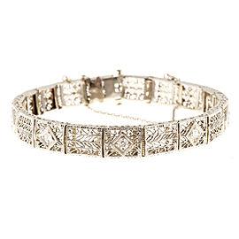 14K White Gold and Platinum with Diamond Bracelet