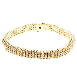 Vintage 14K Yellow Gold with 4.00ct. Diamond Bracelet