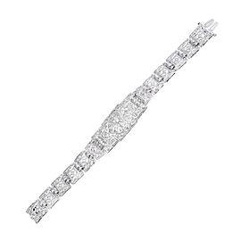 Platinum & 1.22ct. Diamond Hinged Link Bracelet